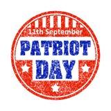 11th Września patriota dnia grunge stylu pieczątki kolorowy em Royalty Ilustracja