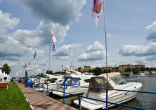 5th yachts and boats fair in Moscow, Russia Royalty Free Stock Image