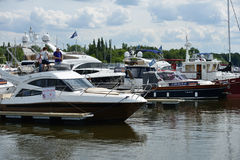 5th yachts and boats fair in Moscow, Russia Stock Image