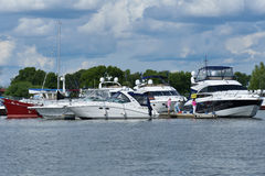 5th yachts and boats fair in Moscow, Russia Royalty Free Stock Photos