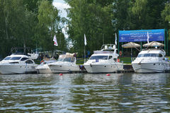 5th yachts and boats fair in Moscow, Russia Royalty Free Stock Photo
