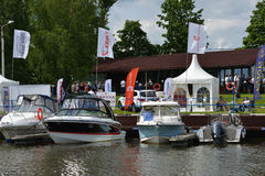 5th yachts and boats fair in Moscow, Russia Royalty Free Stock Images