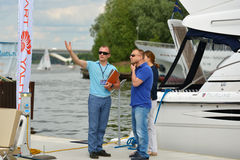 5th yachts and boats fair in Moscow, Russia Stock Photo