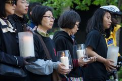 24th year commemoration ceremony of Tiananmen Square massacre Stock Images