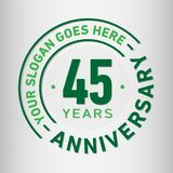 45th 45years age and anniversary art badge black celebrate celebrating celebration ceremony certificate collection company design. 45 years anniversary vector illustration