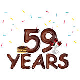 59th years anniversary celebration design card Royalty Free Stock Photo