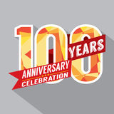 100th Years Anniversary Celebration Design. Vector Royalty Free Stock Photography