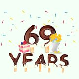 69th Years Happy Birthday card Stock Photos