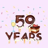 59th Years Happy Birthday card Royalty Free Stock Image