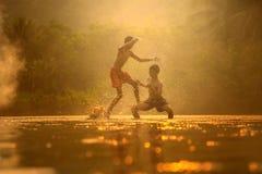 Thaïlandais de Muay, culture combattant la boxe thaïlandaise Photographie stock