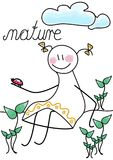 Tha μαγικό της φύσης Ένας αριθμός ραβδιών διάνυσμα διανυσματική απεικόνιση