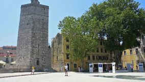 Tha Captain's Tower in Zadar, Croatia stock footage