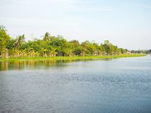 Tha Chin River in Nakhon Pathom. Thailand Royalty Free Stock Photos