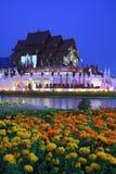 tha för tempel för ratchaphreuk för chiangfloramai kunglig Arkivfoto