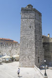Tha kapitanu wierza w Zadar, Chorwacja Zdjęcie Royalty Free