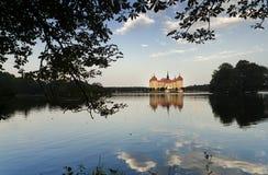 Tha Lake at Moritzburg. Moritzburg Castle reflects on the Waters of the Lake Royalty Free Stock Photo