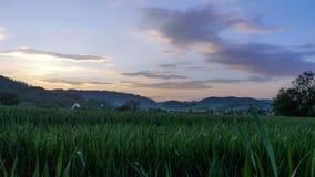 Tha-Landschaft mit den Wolken Lizenzfreies Stockbild