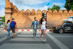 Tha Pae brama w Chiang Mai Fotografia Stock