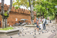 Tha Pae gate in Chiang Mai Royalty Free Stock Image