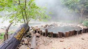 Tha Pai Natural Hot spring. At mae hong son province, Thailand Stock Photo