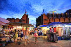 Tha-Phae gate Chiang Mai Royalty Free Stock Photo