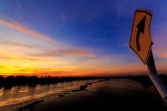 Tha podbródka rzeki most Zdjęcie Royalty Free