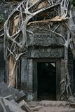 Tha Prohm, Angkor. Door in Tha Prohm, Angkor, Cambodia Royalty Free Stock Photography