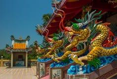 Kinesiskt tempel - Thailand, Phuket Royaltyfria Foton