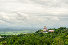 Tha Ton Temple set amid green mountain in Thailand Stock Photos