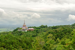 Tha Ton Temple set amid green mountain in Thailand Stock Images