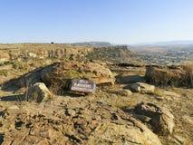 Thaba Bosiu Lesotho royaltyfria bilder
