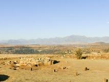 Thaba Bosiu Lesotho arkivfoton