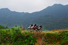Thac MU, velomotor em Vietname imagens de stock royalty free