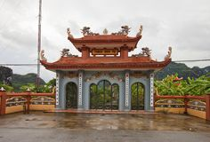 Thach Bich temple. Van Lam village, Vietnam Royalty Free Stock Photo