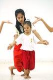 Thacher till den thailändska dansen Royaltyfria Foton