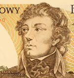 Thaddeus Kosciusko. On 500 Zlotych 1988 Banknote from Poland. Polish, Belarussian and Lithuanian military leader. Led the 1794 uprising against Imperial Russia Stock Photo