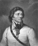 Thaddeus Kosciuszko. (1746-1817) on engraving from the 1800s. Polish, Belarussian and Lithuanian military leader and National Hero. Led the 1794 uprising Royalty Free Stock Image