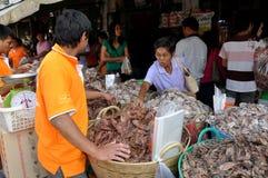 thaen thailand för den bangkok fiskmarknaden tien Royaltyfri Bild