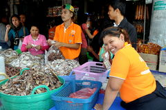 thaen thailand för den bangkok fiskmarknaden tien Royaltyfri Fotografi