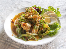 Thai's wing bean salad. On table Stock Photo