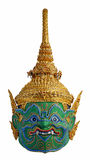 """Thai """"Khon"""" mask head  """"Indrajit"""", """"Inthorachit""""  Son  of """"Tossakan Giant"""" character from """"Ramakien"""" Stock Photo"""