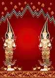 thai ängel Arkivbild