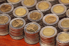 Thai 10 Baht Coins Royalty Free Stock Photography