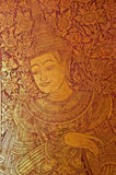 Thai Acient Art Painting On Chuch Door Royalty Free Stock Image