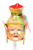 Thai actor's mask grandpa - headed gold. Stock Photo