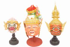 Thai actor's mask ramayana - headed. Royalty Free Stock Photos