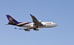 Thai Air Boing 747 in air Royalty Free Stock Photography