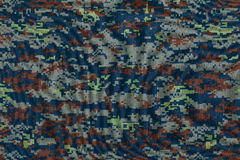 Thai air force digital camouflage fabric texture Royalty Free Stock Image