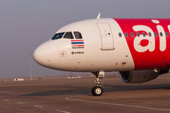 Thai airasia airbus at Macao airport Stock Photo