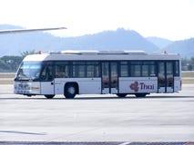 Thai airway Bus. CHIANGMAI, THAILAND - NOVEMBER 27 2006: Thai airway Bus for Ground service. Photo at Chiangmai airport royalty free stock image